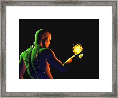 Technomage Uncloaked II Framed Print by Pet Serrano
