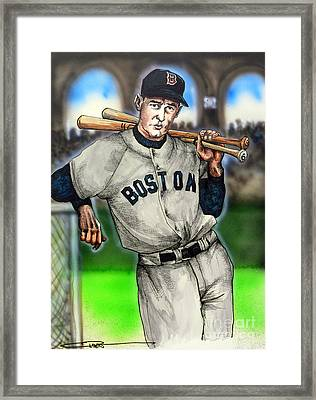 Ted Williams Framed Print by Dave Olsen