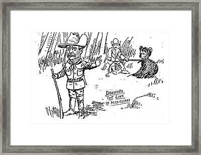 Teddy Bear Cartoon, 1902 Framed Print by Granger