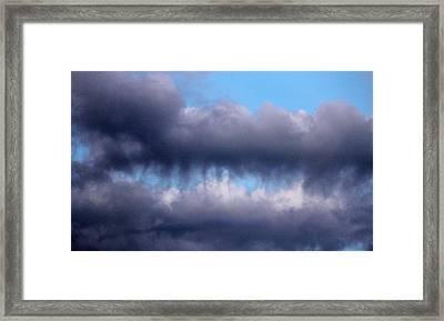 Teeth Biting Clouds Framed Print by Cynthia Guinn
