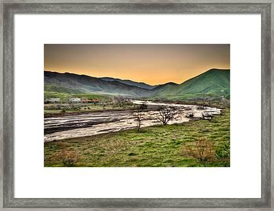 Tehachapi Loop Climb Framed Print by Connie Cooper-Edwards