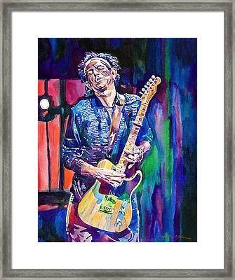 Telecaster- Keith Richards Framed Print by David Lloyd Glover