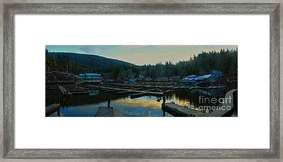 Telegraph Cove Bc Panorama Framed Print by Adam Jewell