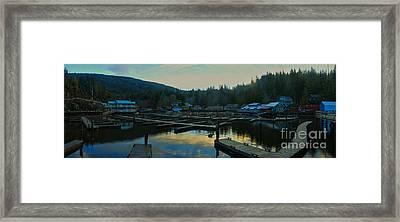 Telegraph Cove Sunset Panorama Framed Print by Adam Jewell