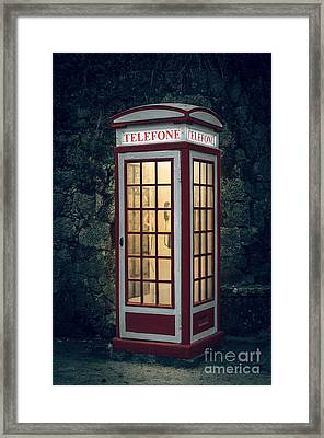 Telephone Booth Framed Print by Carlos Caetano