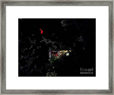 Tell Me Friend Ghostly Halloween Card Framed Print by Kathy Daxon