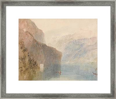 Tell's Chapel Lake Lucerne Framed Print by Joseph Mallord William Turner