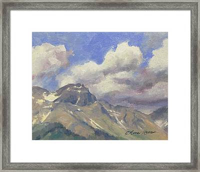Telluride Clouds Framed Print by Anna Rose Bain
