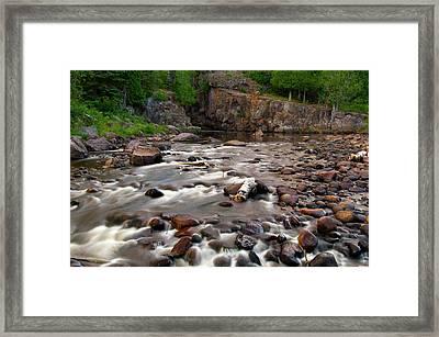 Temperance River Framed Print by Steve Stuller