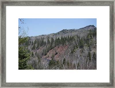 Temperance River Valley Gorge Framed Print by Hella Buchheim