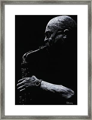 Temperate Sax Framed Print by Richard Young