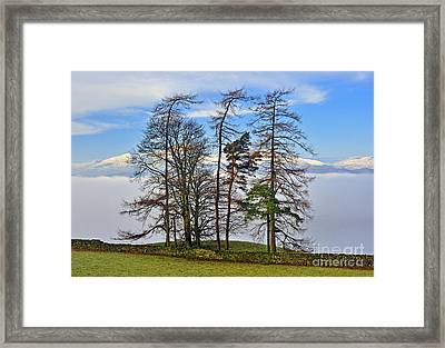 Temperature Inversion Over Windermere. Framed Print by Stan Pritchard