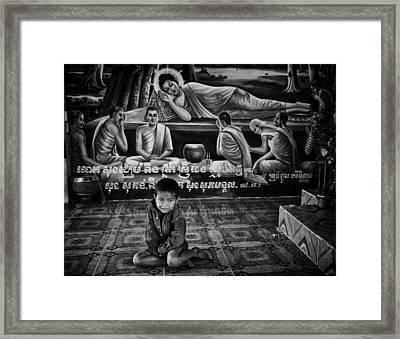 Temple Boy Framed Print by David Longstreath