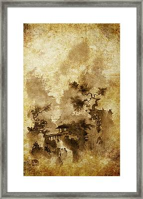 Temple Bridge -altered Framed Print by Sean Seal