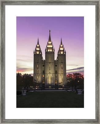 Temple Courtyard Framed Print by Chad Dutson