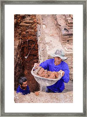 Temple Foundations Framed Print by Joseph Thiery