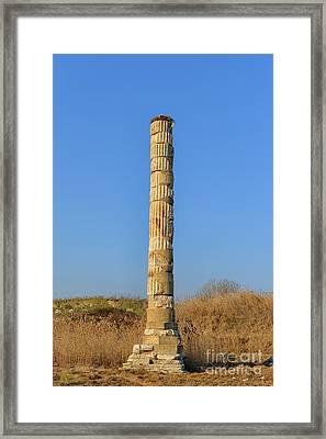 Temple Of Artemis N Ephesus, Turkey Framed Print by Ivan Batinic