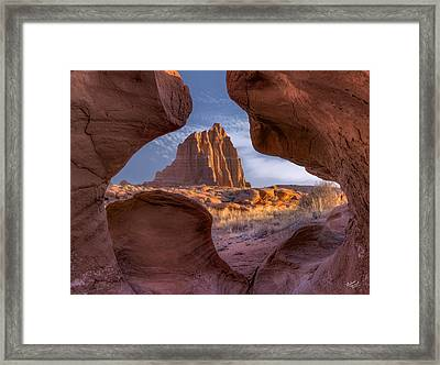 Temple Of The Sun Framed Print by Leland D Howard