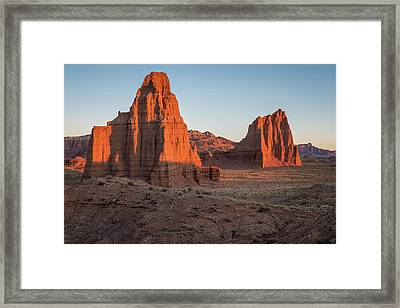 Temples Of The Sun And Moon Framed Print by James Udall