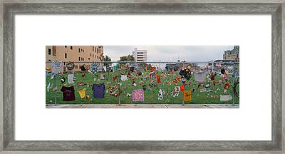 Temporary Memorial For 1995 Oklahoma Framed Print by Panoramic Images
