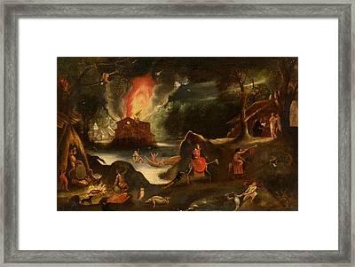Temptation Of Saint Anthony Framed Print by Jacob van Swanenburgh