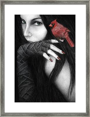 Temptation Framed Print by Pat Erickson