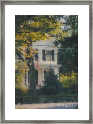Ten Lincoln Street, Easton, Ma Framed Print by Bill McEntee