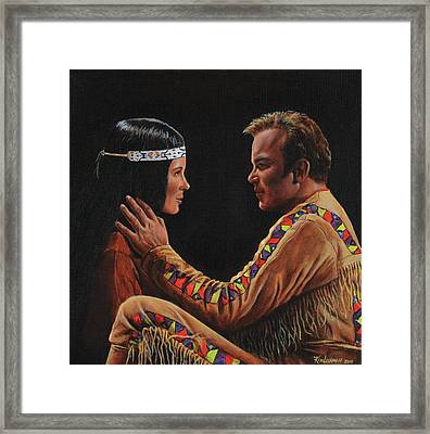 Tenderness In His Touch Framed Print by Kim Lockman