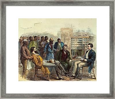 Tenn: Freedmens Bureau Framed Print by Granger
