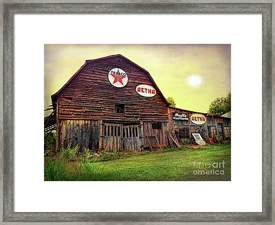 Tennessee Barn Framed Print by Marion Johnson