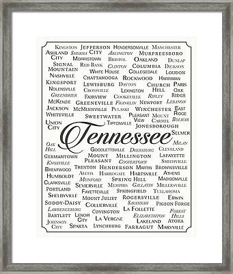 Tennessee Framed Print by Finlay McNevin