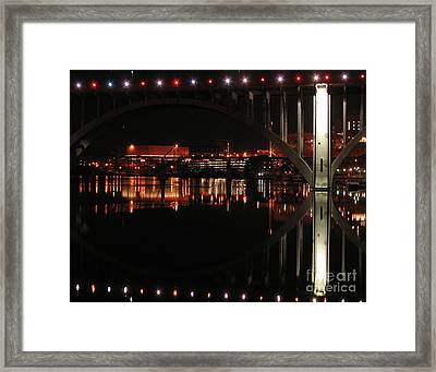 Tennessee River In Lights Framed Print by Douglas Stucky