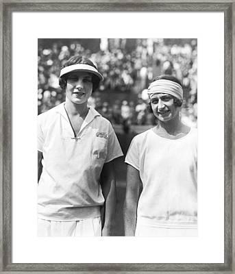 Tennis Champion Helen Wills Framed Print by Underwood Archives