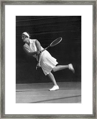 Tennis Champion Kitty Godfree Framed Print by Underwood Archives