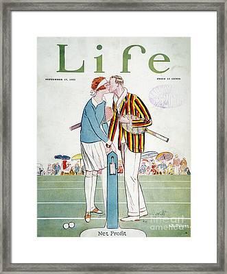 Tennis Court Romance, 1925 Framed Print by Granger