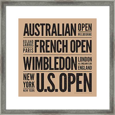 Tennis Grand Slams Framed Print by Mark Brown
