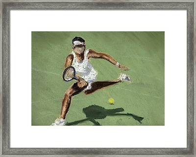 Tennis In The Sun Framed Print by Paul Mitchell