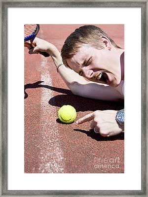 Tennis Player Tantrum Framed Print by Jorgo Photography - Wall Art Gallery
