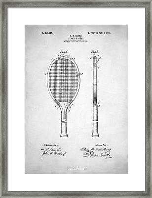 Tennis Racket Patent 1907 Framed Print by Taylan Soyturk