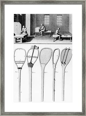 Tennis Rackets Framed Print by French School