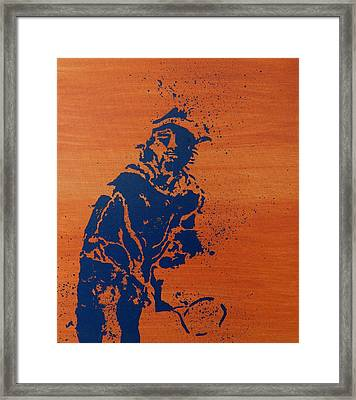 Tennis Splatter Framed Print by Ken Pursley