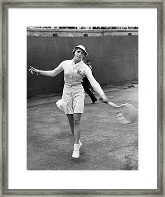 Tennis Star Katherine Stammers Framed Print by Underwood Archives