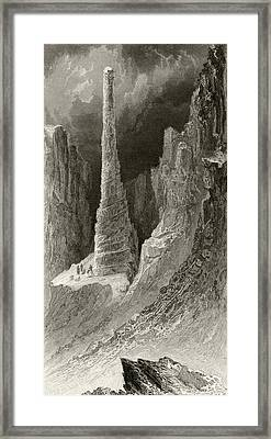 Tennysons Monument From Arctic Framed Print by Vintage Design Pics