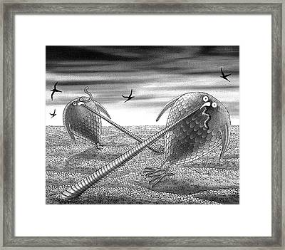 Tension  Framed Print by Andrew Hitchen
