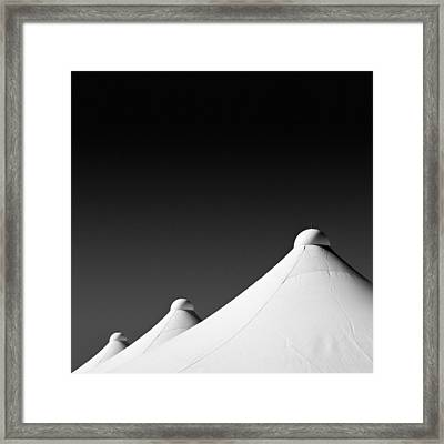 Tent Tops Framed Print by Dave Bowman