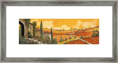terra di Siena Framed Print by Guido Borelli