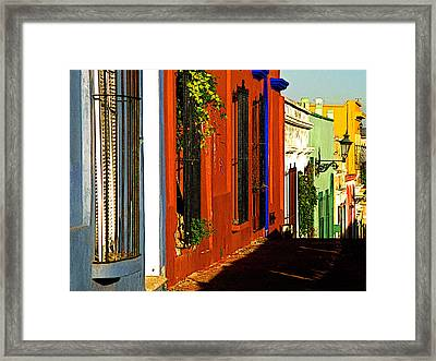 Terracotta House On The Hill Framed Print by Mexicolors Art Photography