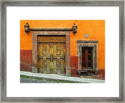 Terracotta Wall 1 Framed Print by Mexicolors Art Photography