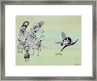 Terrorist Framed Print by Dariush Ramezani