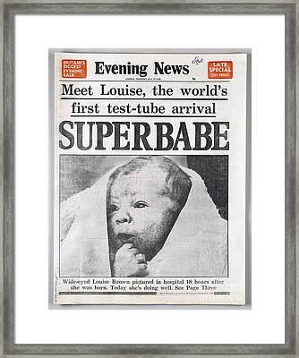 Test-tube Baby, 1978 Framed Print by Granger